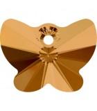 MARIPOSA COLGANTE CRISTAL SWAROVSKI 18 MM 2 UD : color:Crystal Copper