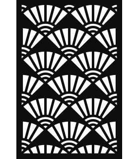 PLANTILLA STENCIL JAPAN ABANICOS 10x15 CM