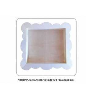 Vitrina ondas 36x33x8 cm Dayka Trade