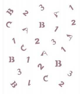 PLANTILLA STENCIL DAYKA A5 15x21 CM LETRAS ABC 123