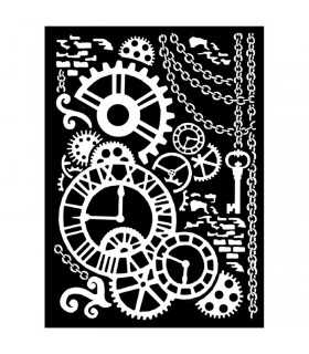 PLANTILLA MIX MEDIA 20x25 CM 0,5 MM STEAMPUNK