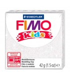 FIMO KIDS STAEDTLER PASTILLA DE 42 GRAMOS : FIMO KIDS:052 BLANCO GLITTER