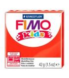 FIMO KIDS STAEDTLER PASTILLA DE 42 GRAMOS : FIMO KIDS:2 ROJO, RED