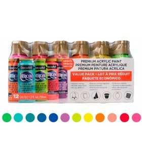 PACK 12 ACRILICOS AMERICANA BRILLANTES 59 ML