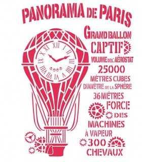 PLANTILLA STAMPERIA 21x29,7cm PANORAMA DE PARÍS