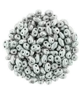 MINI DUO MATT METALLIC SILVER K 2x4 MM 10 GR