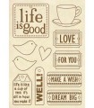 FORMAS MADERA 21x14 CM LIFE IS GOOD