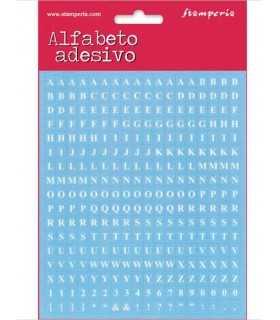 ALFABETO ADHESIVO STAMPERIA 18x15 CM 306 UD AZUL