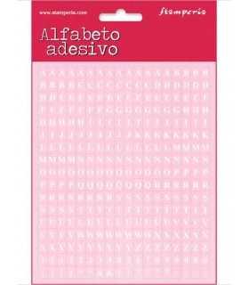 ALFABETO ADHESIVO STAMPERIA 18x15 CM 306 ud ROSA