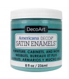 AMERICANA DECOR SATIN ENAMELS 236 ML : AMERICANA DECOR SATIN ENAMELS:ADSA12 AZUL COSTERO