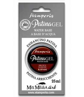 PATINA GEL BASE AL AGUA MARRÓN STAMPERIA 25 ML