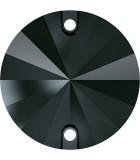 CABUCHÓN REDONDO SWAROVSKI DOS AGUJ. 10 mm 2 Ud : color:Jet Hematite