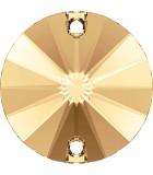 CABUCHÓN REDONDO SWAROVSKI DOS AGUJ. 10 mm 2 Ud : color:Light Colorado Topaz