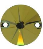 CABUCHÓN REDONDO SWAROVSKI DOS AGUJ. 10 mm 2 Ud : color:Crystal Tabac