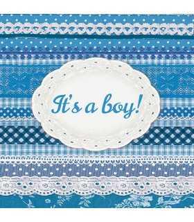 SERVILLETAS AMBIENTE 20 UD 33x33 CM IT´S A BOY