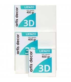 BASTIDOR ENTELADO GRUESO 3D ARTIS DECOR 25x25 CM