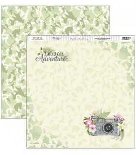 PAPEL SCRAP DAYKA 2 CARAS 30,5x30,5cm TROPICAL 321