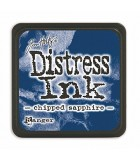 TAMPÓN DISTRESS INK TIM HOLTZ RANGER INK 2x2 pulg : DISTREES INK:27119 CHIPPED SAPPHI