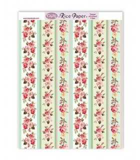 PAPEL ARROZ DAYKA RICE105 224x294 MM FLORES 1 UD