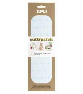 PAPEL APLI CUT&PATCH ESTRELLAS AZUL 30x50 CM 3 UD