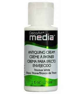 DECOART MEDIA CREMA ENVEJECIDO BLANCO TITANIO 29ml