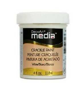 DECOART MEDIA PINTURA CRAQUELADO BLANCO  118 ML