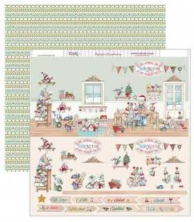 PAPEL SCRAP 2 CARAS 30,5x30,5cm TALLER DE NOEL