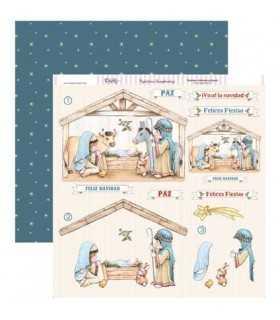 PAPEL SCRAP 2 CARAS 30,5x30,5 CM PORTAL BELÉN