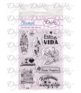 SELLOS ACRÍLICOS DAYKA TRADE SET STAMP08 TROPICAL