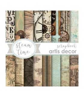 PAPEL SCRAP ARTIS DECOR STEAM PUNK 6x6 18 UD