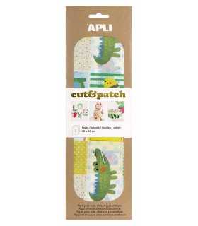 PAPEL APLI CUT&PATCH ANIMALES 30x50 CM 3 UD