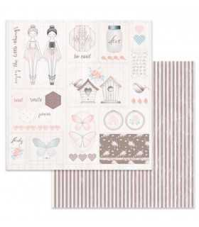 PAPEL SCRAP STAMPERIA 12x12 DOBLE CARA MARIPOSAS