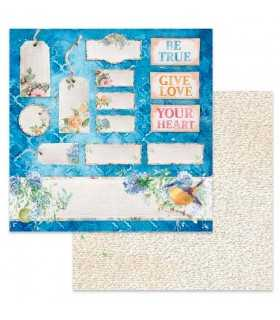 PAPEL SCRAP STAMPERIA 12x12 DOBLE FLOWERS FOR YOU
