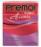 SCULPEY PREMO ACCENTS PASTILLA 57 GR : ACCENTS:5051 RED GLITTER
