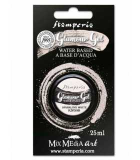 GLAMOUR GEL STAMPERIA SPARKLING WHITE 25 ML