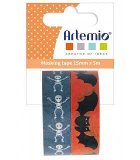 SET 2 WASHI TAPES HALLOWEEN ARTEMIO 15mmx 5 METRO