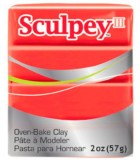 SCULPEY III PASTILLA MODELAR 56GR. PRIMERA PARTE. : Unidades:1 unidad, color:583 Rojo Fuerte