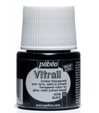 PINTURA PARA VITRALES VITRAIL DE PEBEO 45 ml : color:15 NEGRO