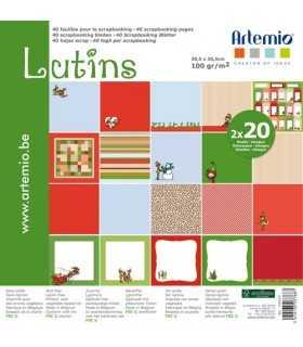 PAPEL SCRAP ARTEMIO LUTINS 30,5x30,5cm 40 UD