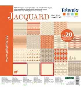 PAPEL SCRAP ARTEMIO JACQUARD 30,5x30,5cm 40 UD