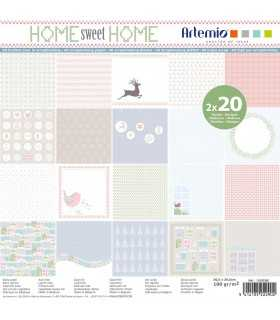 PAPEL ARTEMIO HOME SWEET HOME 30,5x30,5cm 40 UD