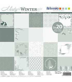 PAPEL SCRAP ARTEMIO MISTY WINTER 30,5x30,5cm 40 UD