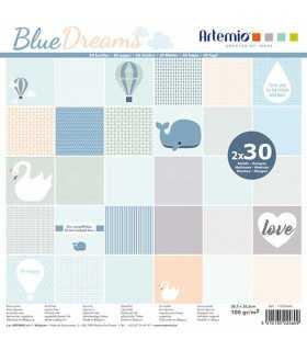 PAPEL SCRAP ARTEMIO BLUE DREAMS 30,5x30,5cm 60ud