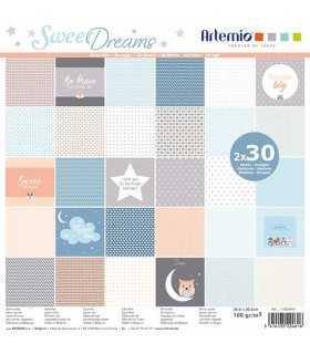 PAPEL SCRAP ARTEMIO SWEET DREAMS 30,5x30,5cm 60ud