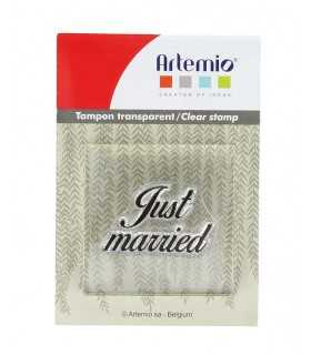 SELLO TRANSPARENTE+ BLOQUE JUST MARRIED