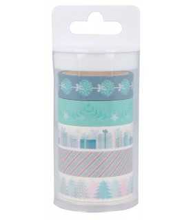 SET 5 WASHI TAPES MY LITTLE XMAS 15mmx 5 METRO