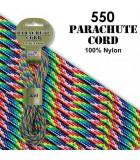 CUERDA DE PARACAÍDAS 4 MMx 4,8 METROS PARACORD 550 : CORDÓN PARACAÍDAS:1695 TIE DYE RAINBOW