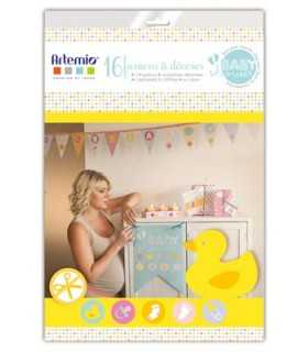 KIT SCRAPBOOKING ARTEMIO BANDERINES BABY SHOWER