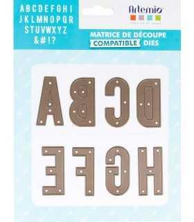 TROQUEL ARTEMIO COMPATIBLE ALFABETO 5 CM