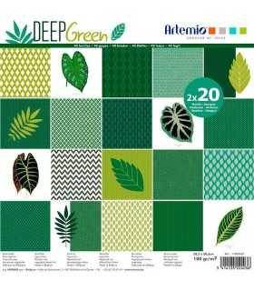 PAPEL SCRAP ARTEMIO DEEP GREEN 30,5x30,5cm 40 UD